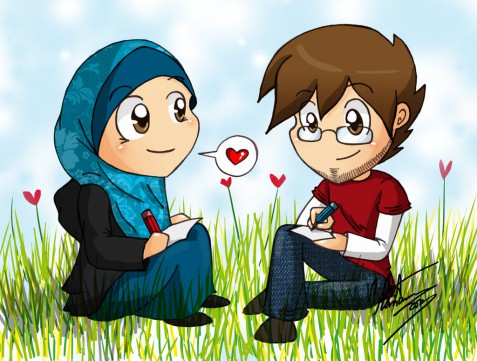 gambar-kartun-muslimah-romantis-lucu-banget